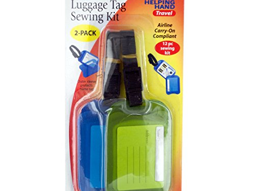 Luggage Tag Sewing Kit Set - Pack of 144 by bulk buys