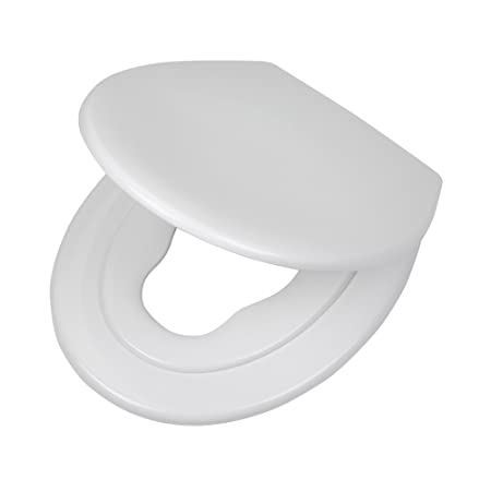 Tiger Toilettensitz Tulsa mit integriertem Kindersitz, Absenkautomatik und Easy-Clean-Funktion, Farbe: Weiß, Edelstahlbefesti