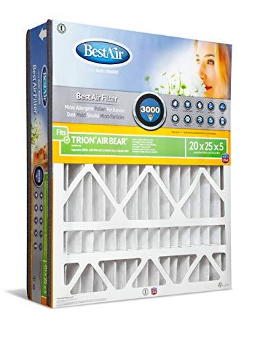 (BestAir AB2025-13R Air Cleaning Furnace Filter, MERV 13, For Trion Air Bear, Supreme, Skuttle, GeneralAire, Source1, Ultravation & Braeburn Models, 20