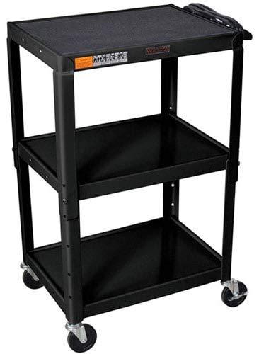 Luxor W42AE Adjustable Height Steel AV Cart