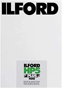 """Ilford HP-5 Plus 400 Fast Black and White Professional Film, ISO 400, 5x7""""-25 Sheets"""