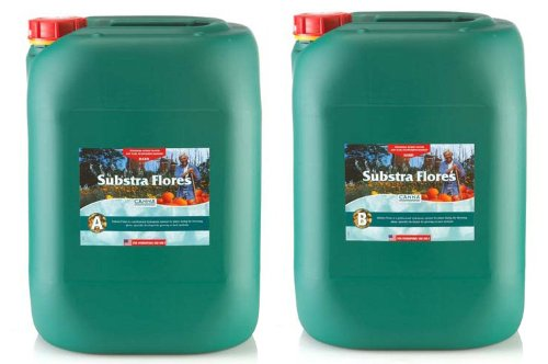 Canna Substra Flores Hard Water A and B Nutrients 20 Liters by CANNA