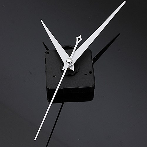 DIY White Triangle Hands Quartz Black Wall Clock Movement Mechanism -