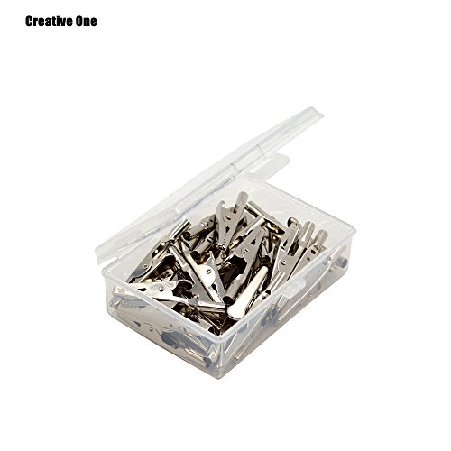 25 Ton Single (Creative one 25 Pcs Silver Tone Metal Alligator Clip Crocodile Clamps)