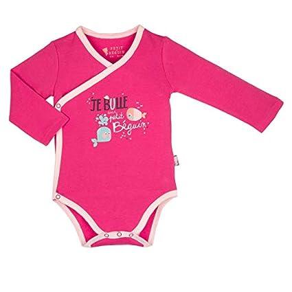 Body croisé bébé fille manches longues Petit Poisson - Taille - 3 mois (62  cm 9ee6ef56835