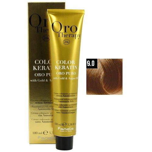 9.0 Very Light - Fanola Oro Puro 9.0 Very Light Blonde Hair Coloring Cream