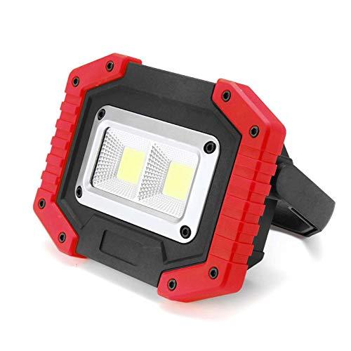 WOERD LED Arbeitsstrahler, USB Wiederaufladbare Baustrahler Akku, IP65 Wasserdicht Arbeitsleuchte Flutlicht Ständer…