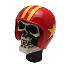 Mavota Red Helmet Skull Manual Automatic Gear Shift Knobs
