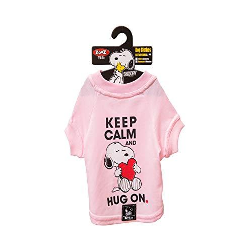Camiseta Snoopy Charlie Zooz Pets para Cães Keep Calm - Tamanho G