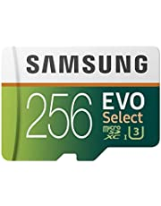 Samsung (U3) MicroSDXC EVO Select Memory Card with Adapter (MB-ME256GA/AM), 256GB 100MB/s