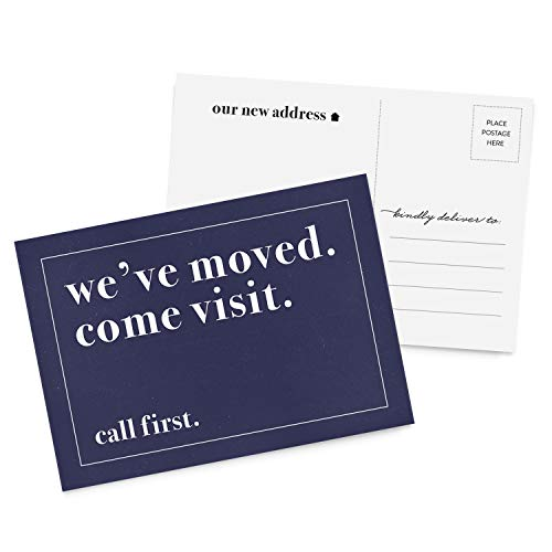 (50 Moving Announcement Postcards, We've Moved Postcards, New Address, Just Moved, New Home, Change of Address Postcards)