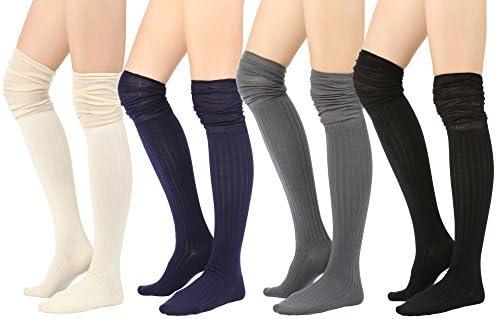 STYLEGAGA Women's Fall Over The Knee High Knit Boot Socks