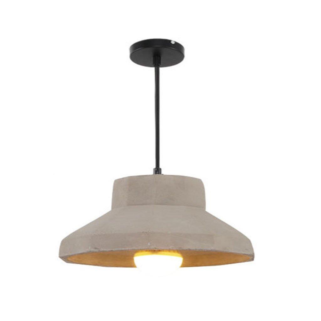 @Kronleuchter Kronleuchter - Creative Persönlichkeit Single Head Zement Kronleuchter (15cm  15cm) Standard warmes Licht  Hängeleuchte (Farbe   D, Größe   Warmes Licht)