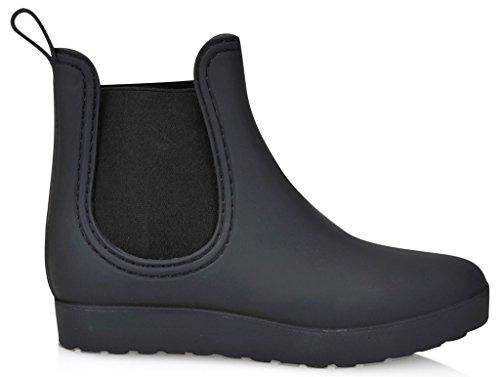 Henry Ferrera Womens Clarity Sky 7 Inches (over De Enkel) Rubberen Rainboot & Gardenboot Met Comfortabele Binnenzool Zwart (mat) -react