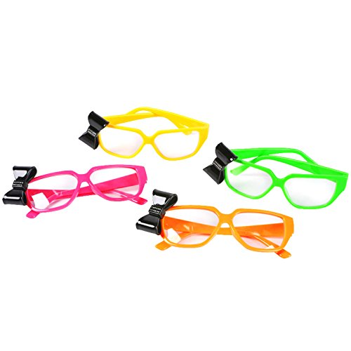 Neon Nerd Glasses with Bow Party - Nerd Glasses Bow With