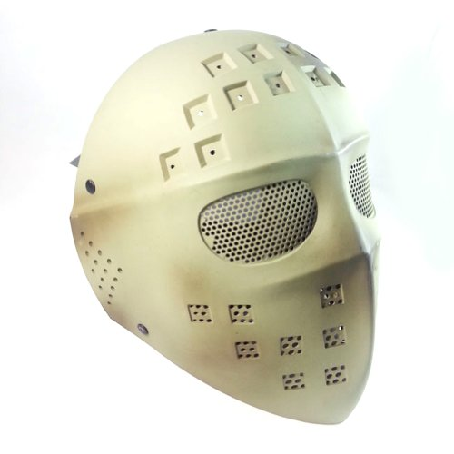 ATAIRSOFT Paintball Hockey Type Full Face Mesh Protection Mask Jason Hockey Mask DE
