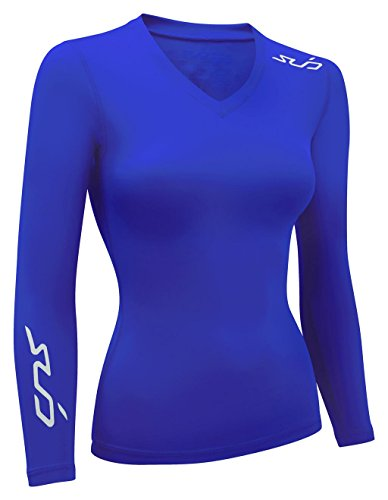 SUB Sports DUAL All Season Womens Compression Top - Long Sleeve Base Layer - Royal - S (Uv Protection Clothing Women compare prices)