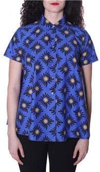 ASPESI - Camisa de Mujer con Flores, Fondo Azul, 38: Amazon.es: Deportes y aire libre
