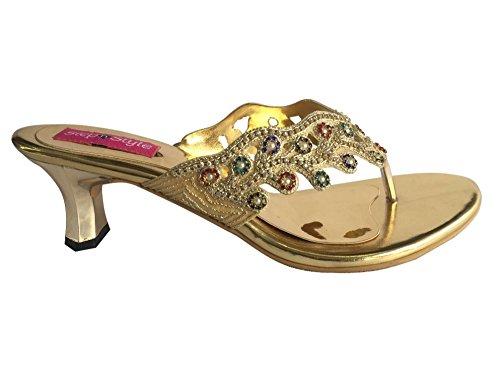 Étape Style Khussa mariée chaussures jutti femmes ethniques sandales strass kolhauri N Chaussures 4zwqr4