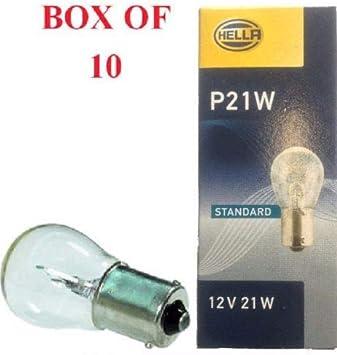 P21W BA15S 382 Fog Reverse Stop Brake Tail Light Clear Bulbs