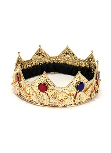 Regal King Crown Gold with jewels for Men and Women by elope]()