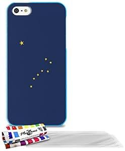 """Carcasa Flexible Ultra-Slim APPLE IPHONE 5 de exclusivo motivo [Alaska Bandera] [Azul] de MUZZANO  + 3 Pelliculas de Pantalla """"UltraClear"""" + ESTILETE y PAÑO MUZZANO REGALADOS - La Protección Antigolpes ULTIMA, ELEGANTE Y DURADERA para su APPLE IPHONE 5"""