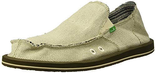 Sanuk Men's Hemp Slip On, Natural, 11 M