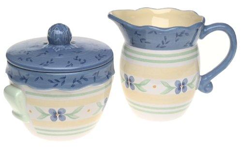 (Pfaltzgraff Summer Breeze Stoneware Sugar and Creamer Set)