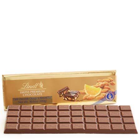 Large Swiss Dark Almond and Orange Gold Bar