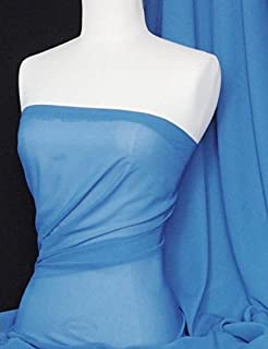 "1 mtr teal cationic sheer bridal,dress chiffon fabric..58"" wide 147cm"
