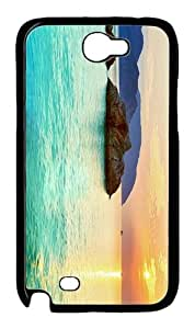 case underwater cases sunset panorama PC Black case/cover for samsung galaxy N7100/2