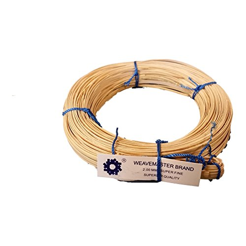 270' Coil of Cane with a Binder Strip, Choose Your Size: Superfine 2mm, Fine-fine 2.25mm, Fine 2.5mm, Narrow-medium 2.75mm, Medium 3mm (Superfine 2mm) Cane Coil