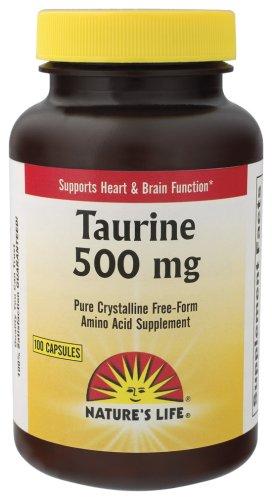 Nature Capsules Taurine vie, 500 mg, 100 Count