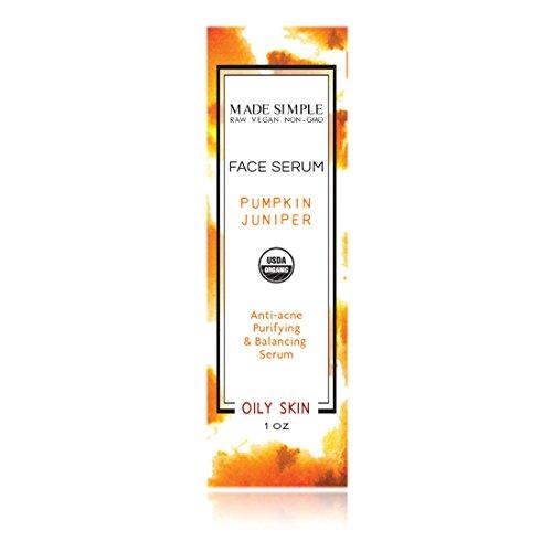Pumpkin Juniper Face Serum (Certified Organic) by Made Simple Skin Care