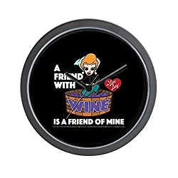 CafePress - I Love Lucy: Wine Friend - Unique Decorative 10 Wall Clock