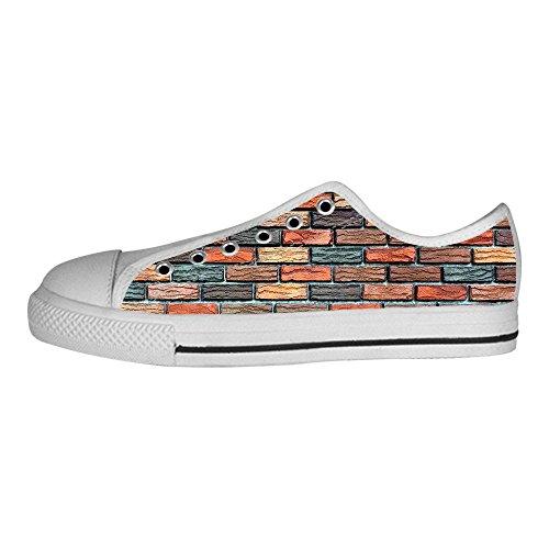 Mattoni Tela Sopra Da Alto I Le Del Ginnastica Canvas In Scarpe Lacci Di Custom Shoes Muro Struttura Delle Men's wUUI6qA
