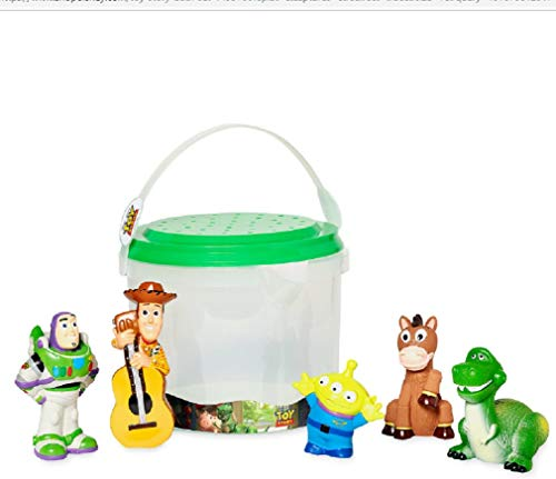 Disney - 2019 All New Toy Story Bath Set Include Buzz, Woody, Space Alien, Rex, and Bullseye ()