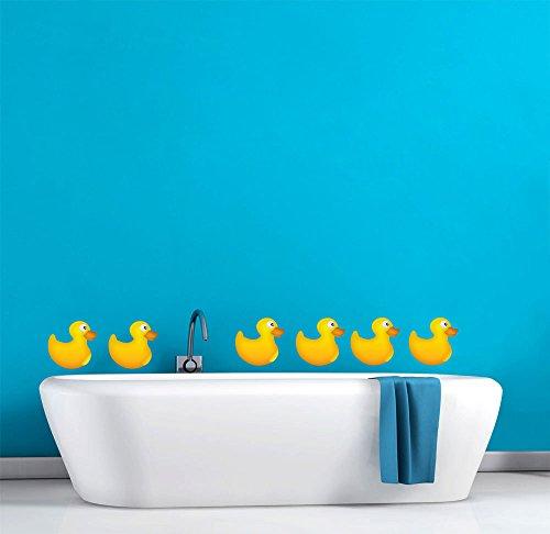 of 6 Cute Bathroom Décor Wall Decal - 22