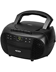 Portable Stereo Cassette Recorder & CD Player with AM/FM Radio