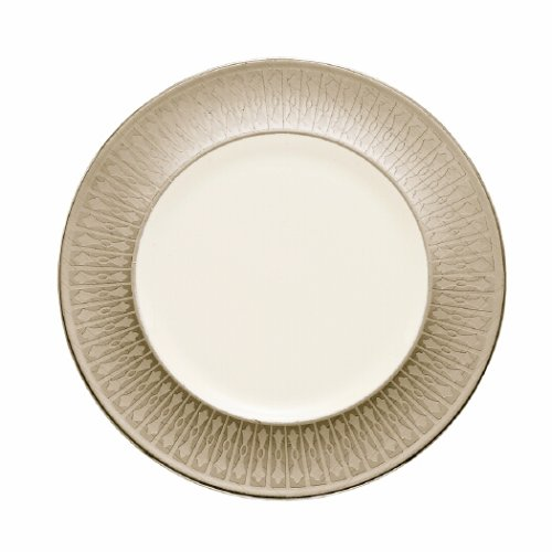 Lenox Tuxedo Platinum Ivory China 9-Inch Accent (Lenox Elegance Crystal)