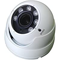VIEWISE 1080P 2 Megapixel Indoor / Outdoor Surveillance Security Camera Video Monitoring Night Vision 4-in-1 HD-TVI, AHD, CVI, CVBS Camera (White Dome Varifocal)