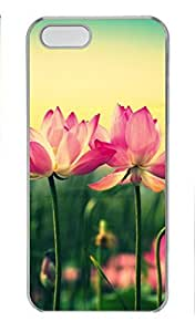 iCustomonline Case for iPhone 5S PC, Lotus Flower Blooming Ultimate Protection Case for iPhone 5S PC