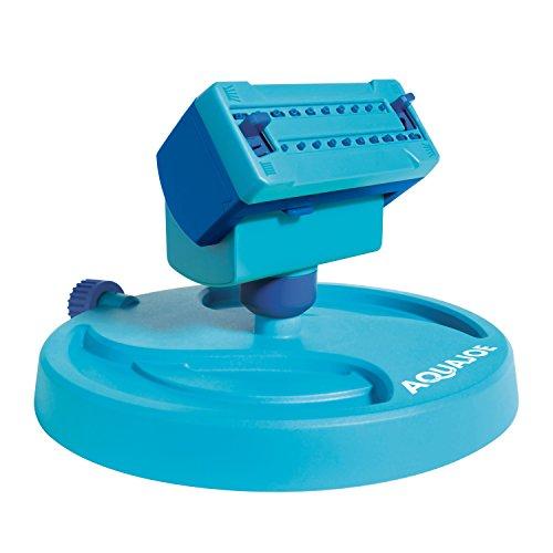 Sun Joe AJ-OSPR20 20-Nozzle Max Coverage Adjustable Gear Driven Oscillating Sprinkler on Sled Base