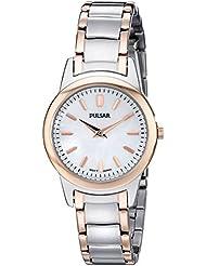 Pulsar Womens PRW016 Analog Display Analog Quartz Two Tone Watch