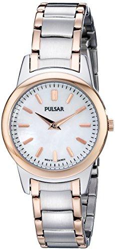 Pulsar Women's PRW016 Analog Display Analog Quartz Two Tone Watch