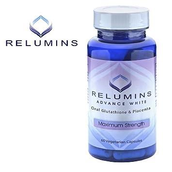 Piel Blanqueamiento Lightening auténtico relumins avanzada blanco Oral Blanqueamiento fórmula cápsulas, blancos - Reparaciones y rejuvenece piel: Amazon.es: ...