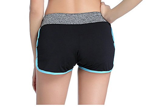CHRISTYZHANG Running Yoga Gym Workout Athletic Sports Shorts For Women Free Size(S L