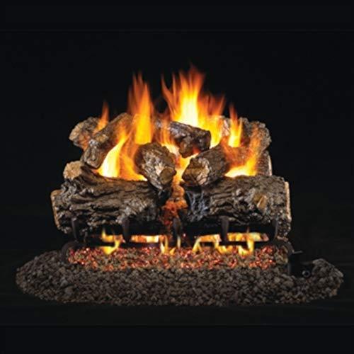 RealFyre Burnt Rustic Oak 18/20-in - Logs and G45 Burner Kit, Natural -