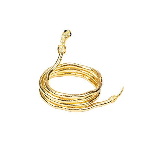 HOPEANT Flexible Bendable Snake Bracelet Wrap Bangle Twistable Adjustable Neck Collar Choker Necklace Waistband (A-Gold)