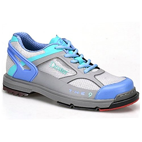(Dexter Womens SST The 9 Bowling Shoes- 9 1/2, Grey/Periwinkle/Aqua,)